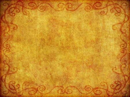 An old, weathered fabric like background with burned in border