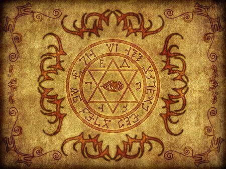 wiccan: Illustration of an ancient, mystic magikal sigil.