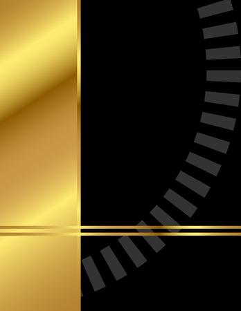 Elegant background with modern, minimalist, clean design in gold and black Stock Illustratie