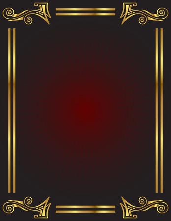 lettres en or: Un �l�gant fond or trim