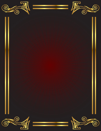 An elegant background with gold trim