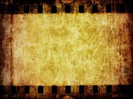 Een noodlijdende grunge achtergrond textuur van een oude segment van negatieve film. Stockfoto