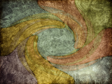 A modern-art style of background texture with swirling colors. 免版税图像