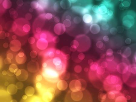 Een abstracte, dromerige achtergrondafbeelding van zwevende bubbels en bokeh graag effect. Stockfoto