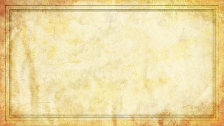 Un documento simile a sfondo grunge illustrazione con un bordo cornice in uno standard di formato widescreen 16:9 Archivio Fotografico - 9629949