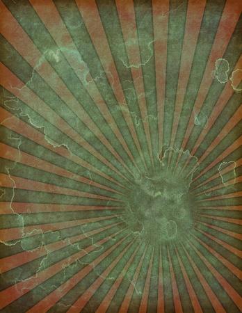 昔、色あせた、苦しめられたレトロ ポスターの背景の図では。