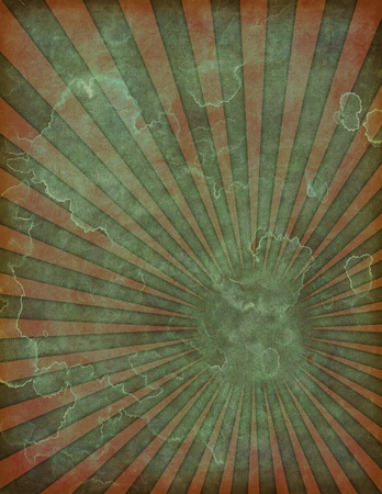 muted: An old, faded and distressed retro poster background illustration.