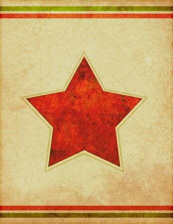 star: A retro style poster background template with star shape. Stock Photo