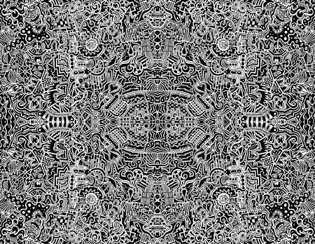 Una ilustración vectorial transparente altamente complejos, simétrico, abstracta. Ilustración de vector