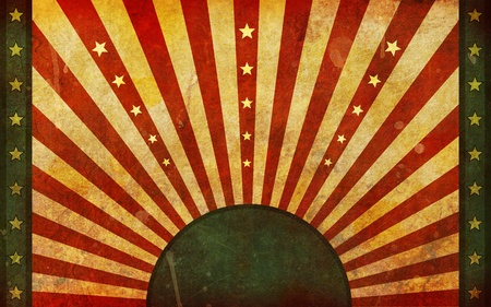 sun rising: A very dirty, aged and worn flag like background illustration in a widescreen aspect ratio. Stock Photo