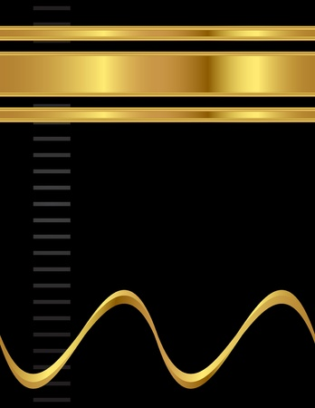 ゴールドと黒、単純なとエレガントなきれいなプロのスタイル A4 背景ベクトル。  イラスト・ベクター素材