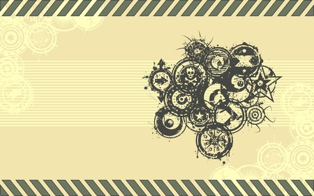 A vector background in done in a grunge illustration style in a standard widescreen aspect ratio. Illustration