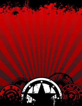 Een unieke grunge vector poster achtergrond afbeelding met ruimte voor je tekst in een brief-of A4-beeldverhouding