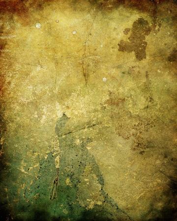 古代、腐った、かびの生えたプラスター壁の背景や真菌やカビを持つテクスチャー