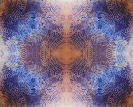 螺旋曼荼羅パターンで非常に詳細かつ複雑な抽象的な背景がシームレスなテクスチャ画像。 写真素材