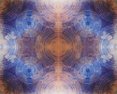 blue circles: A highly detailed and intricate seamless abstract background texture image with spiral mandala pattern.