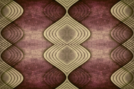 Symmetrical, detailed and intricate beautiful purple abstract background with a unique wave pattern and grunge texture