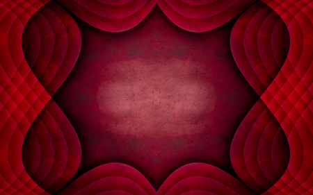 texturized: Textured background graphic design image of a quilted, red, uniqe frame pattern  Stock Photo