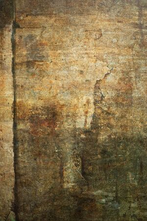 patina: Old, damaged sand stone grunge wall background texture. Stock Photo
