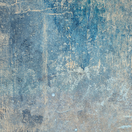 patina: A square format blue grunge style texture design.