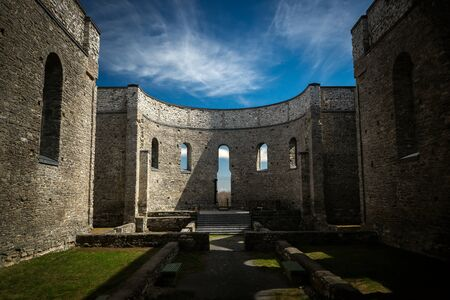 Interior of the ruins of St. Raphael