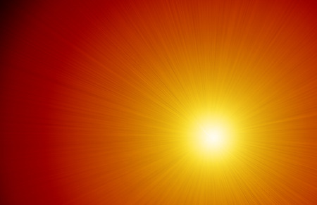Graphic design illustration of an intense light ray burning sunshine background image.
