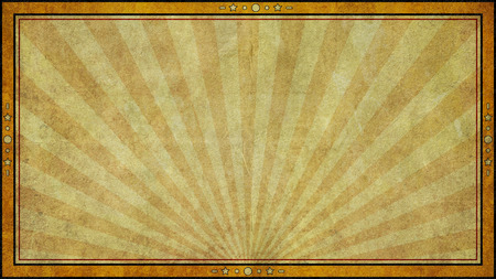 A vintage retro style aged paper graphic design background with frame in widescreen 16:9 aspect ratio format.