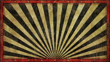 An old, faded, rough and worn red and black graphic design retro print style background in a widescreen 16:9 aspect ratio.