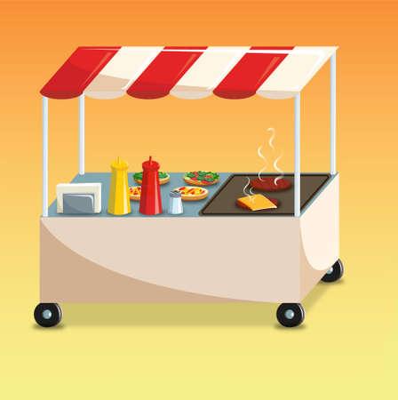 patty: hamburguer car Illustration