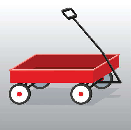 pull along: red pull along wagon for toys