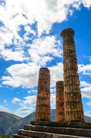 delphi: The temple of Apollo in Delphi, Greece