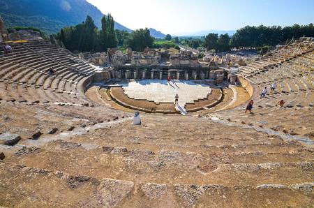 teatro antiguo: El antiguo teatro en �feso, Turqu�a