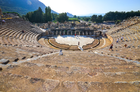 The ancient theatre in Ephesus, Turkey