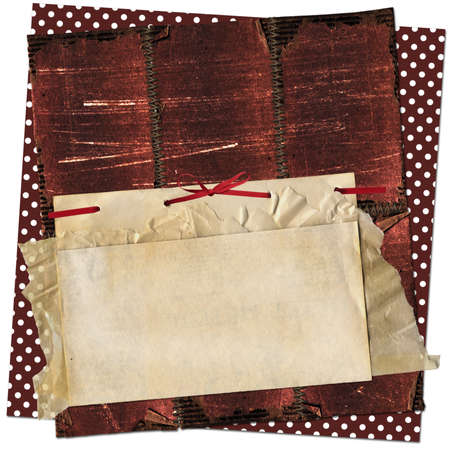 Grunge card for design with old sheets Stock Photo - 6983918