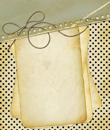 Grunge papers for design polka dot background  photo