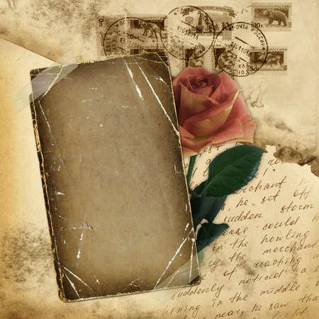 threadbare: Vintage envelope for design with grunge sheet Stock Photo