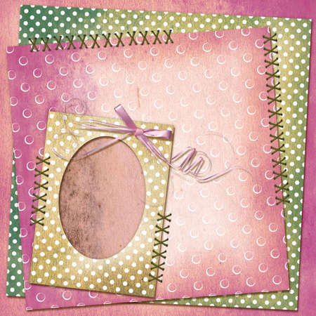 twine: Grunge card for design with old frame