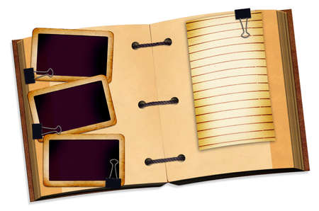 open notebook for design on isolated background photo