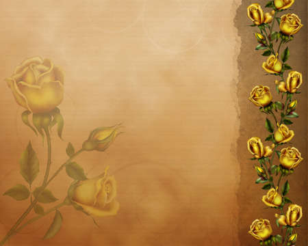 roseleaf: a beautiful background with golden roses