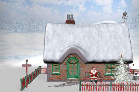 Santa Claus make a pause Stock Photo - 9131850