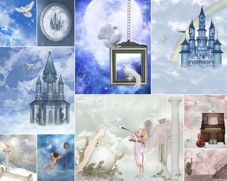a Collage of dreamy heaven gate images Stock Photo - 9270115