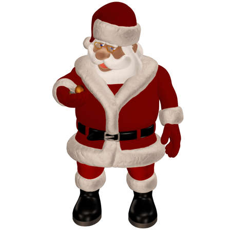 Santa Claus is coming - isolated on white Stock Photo - 9269917