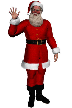 Santa Claus is coming - isolated on white Stock Photo - 9269873