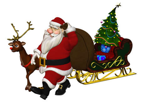 Santa Claus is coming - isloated on white Stock Photo - 9270040