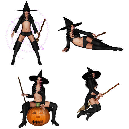 3d witch: little witch