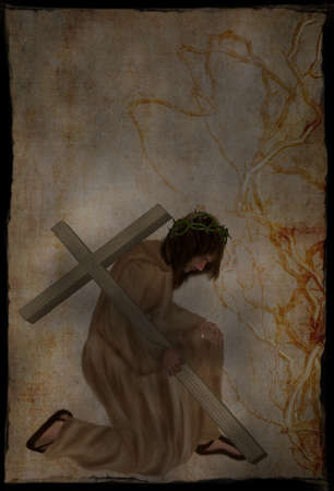 Jesus Christ of Nazareth with the cross