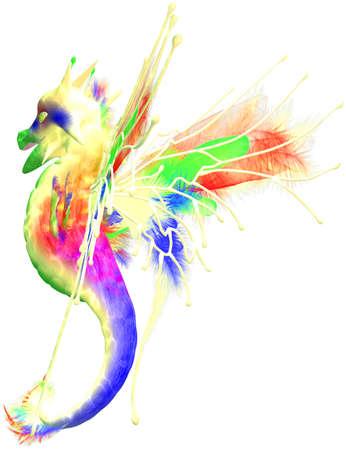 flying dragon: a cute colorful fantasy dragon