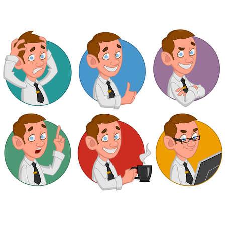 office worker: Avatars of office worker. Vector Illustration