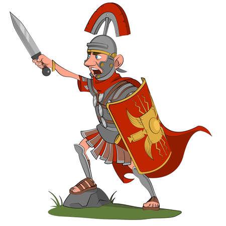 cascos romanos: Gritando centuri�n. Vectores