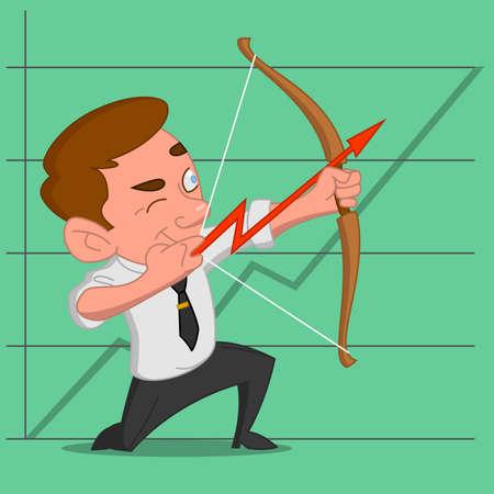 shoots: Man shoots a bow. Vector illustration